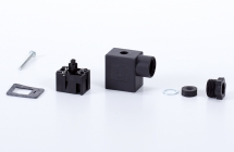 Connector 22mm, Industry B, black individually packed