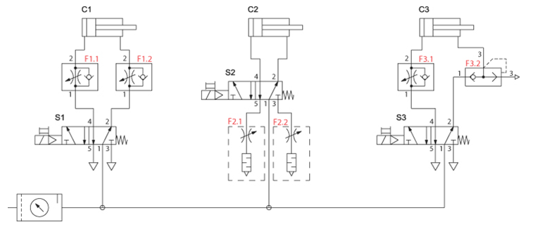 air cylinder schematic the pneumatic cylinder     part 2  the pneumatic cylinder     part 2